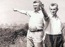 John Ruxton (right) who did so much for the WWA in the early years